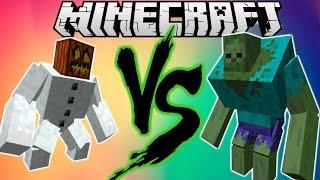 Minecraft Đại Chiến | Mutant Snow Golem Solo Siêu Zombie