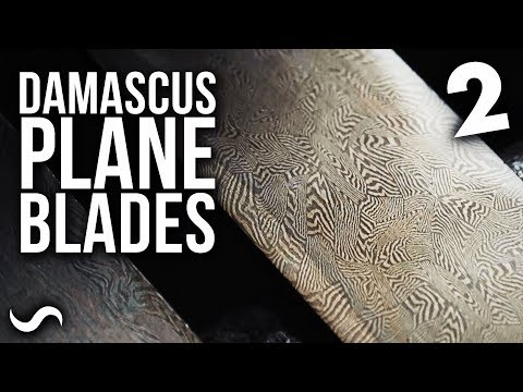 DAMASCUS HAND PLANE BLADES!! Part 2: Dustin Penner Collab!