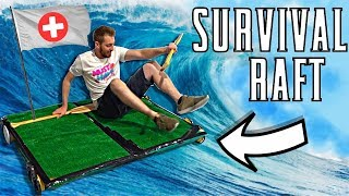 We Built A Survival Raft! *Will It SINK?*