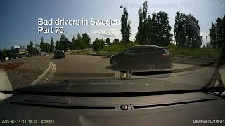 Bad Drivers in Sweden #70 incidents and mistakes