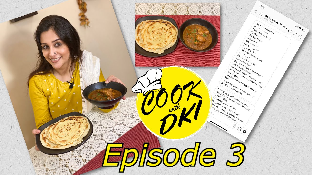 Cook With DKI | South Indian Cuisine | Chicken Chettinad With Malabar Paratha | Dipika Kakar Ibrahim