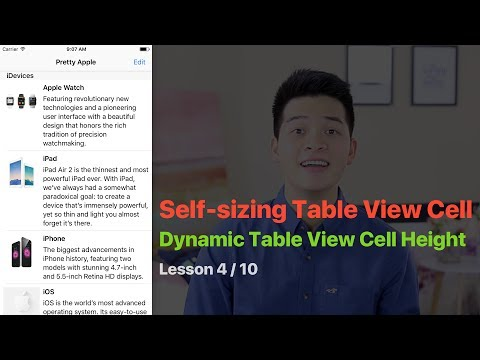 UITableView Pt 4: Create Custom Table View Cell, Dynamic Table View Cell Height, Self-Sizing Cell