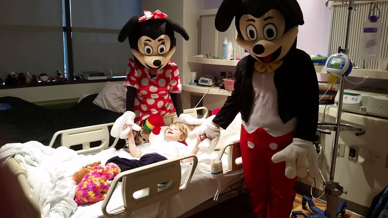 Mickey and Minnie texas children's hospital. Best day ever ...