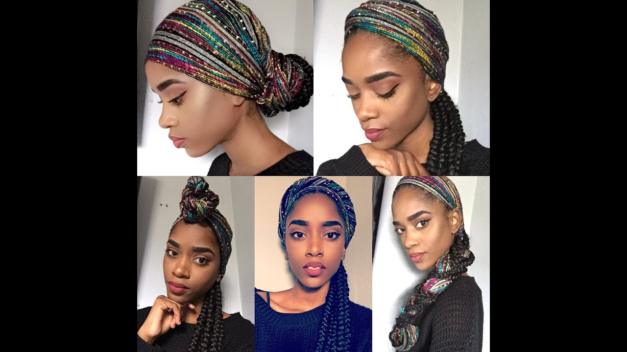 How To Tie A Head Scarf With Braids