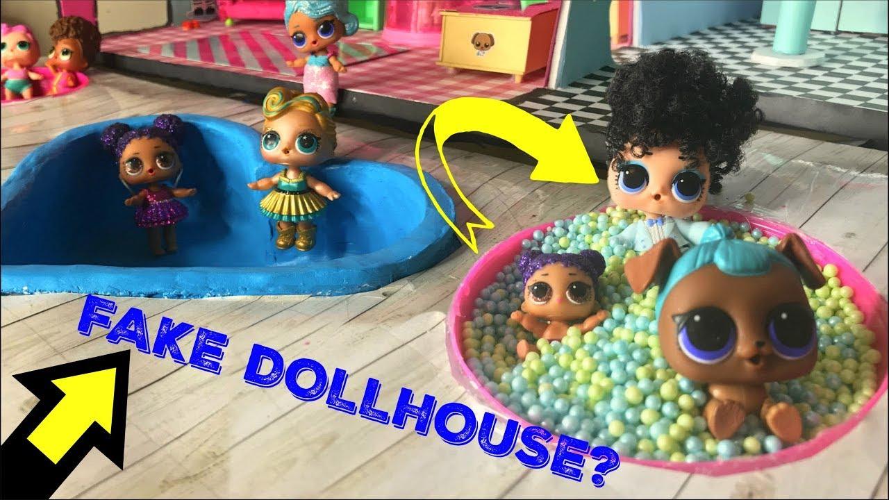 Fake Lol Surprise Dollhouse Tour Doll House Lol Surprise Series 4
