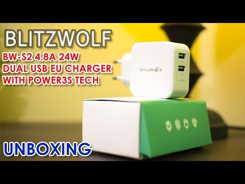 Blitzwolf Universal Charger for all your Devices | BW-S2 4.8A 24W Dual USB EU Charger