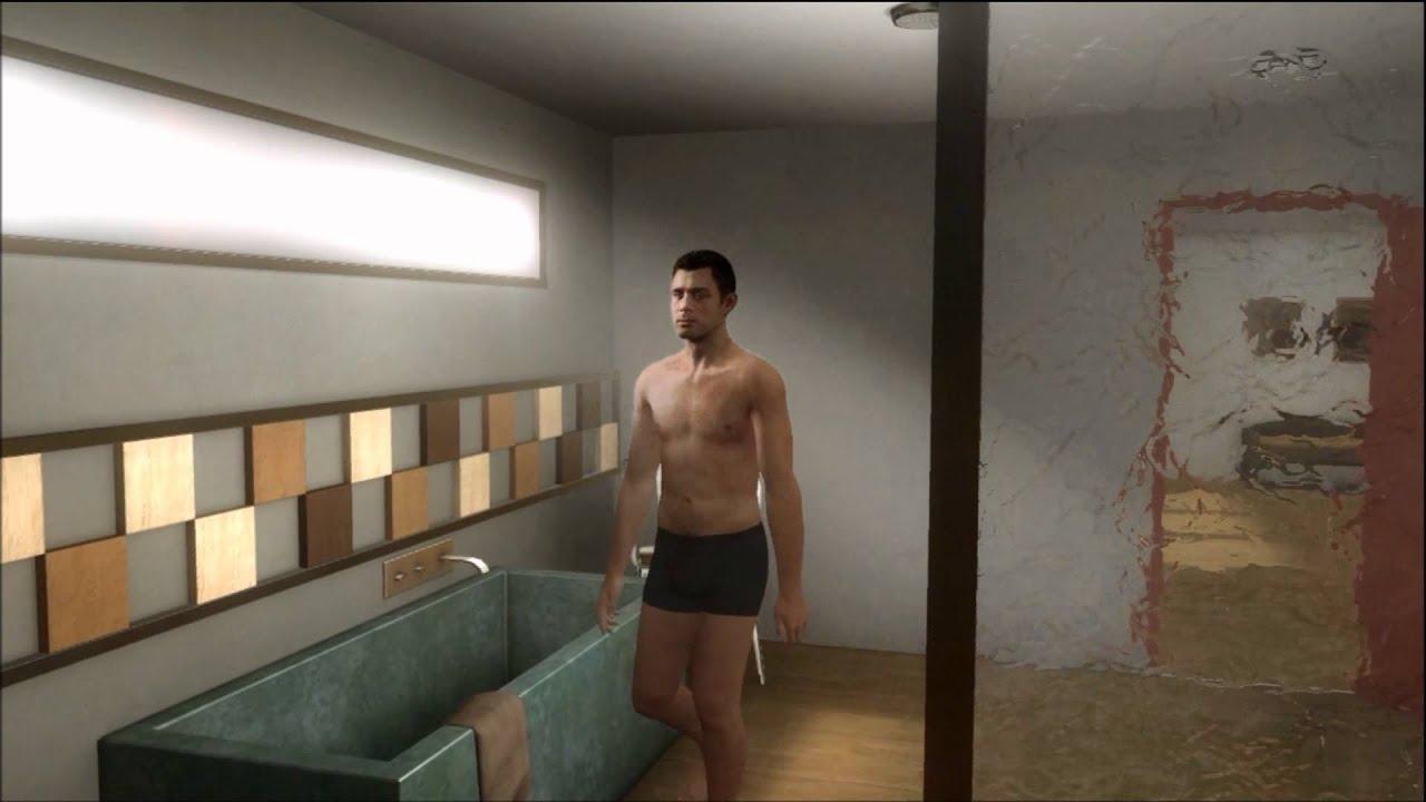rain and nude man