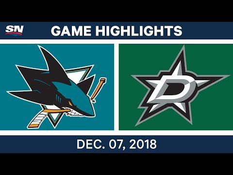 NHL Highlights | Sharks vs. Stars - Dec 7, 2018