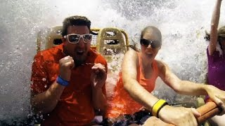 Kali River Rapids Full Ride GoPro (We get Soaked) - Disney