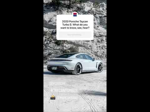 2020 Porsche Taycan Turbo S Instagram Q&A