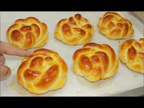 خبز البريوش بالحليب بشكل جديد لفطور الصباح او اللمجة روووعة