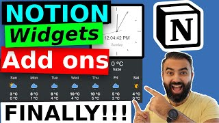 FREE Notion Widgets Add ons FINALLY | Embeds using Indify | Weather, Countdowns, Clocks extensions screenshot 3