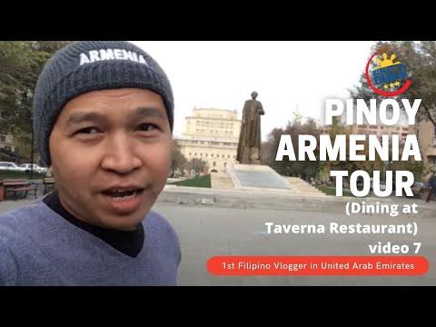 ARMENIA TOUR video 7 (Dining at Taverna Restaurant in Yerevan)