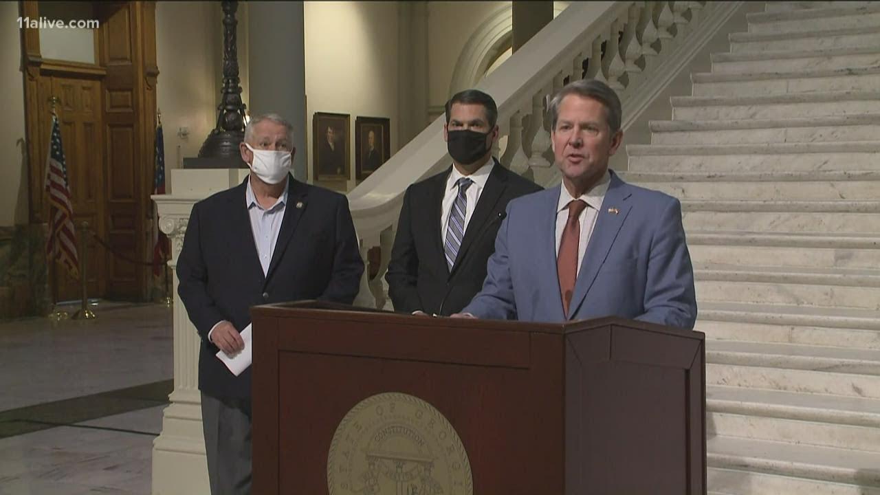 Georgia Gov. Brian Kemp vows to fight President Joe Biden COVID ...