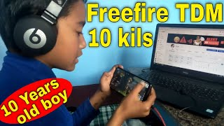 Free fire TDM with 10 years old boy | Freefire TDM Mode