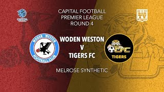 2019 Capital Football Premier League - U20's and 1st Grade Round 4 - Woden Weston FC v Tigers FC