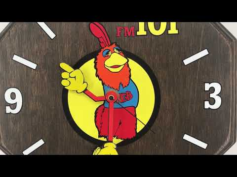 Famous KGB Radio San Diego Chicken 1970's Wall Clock