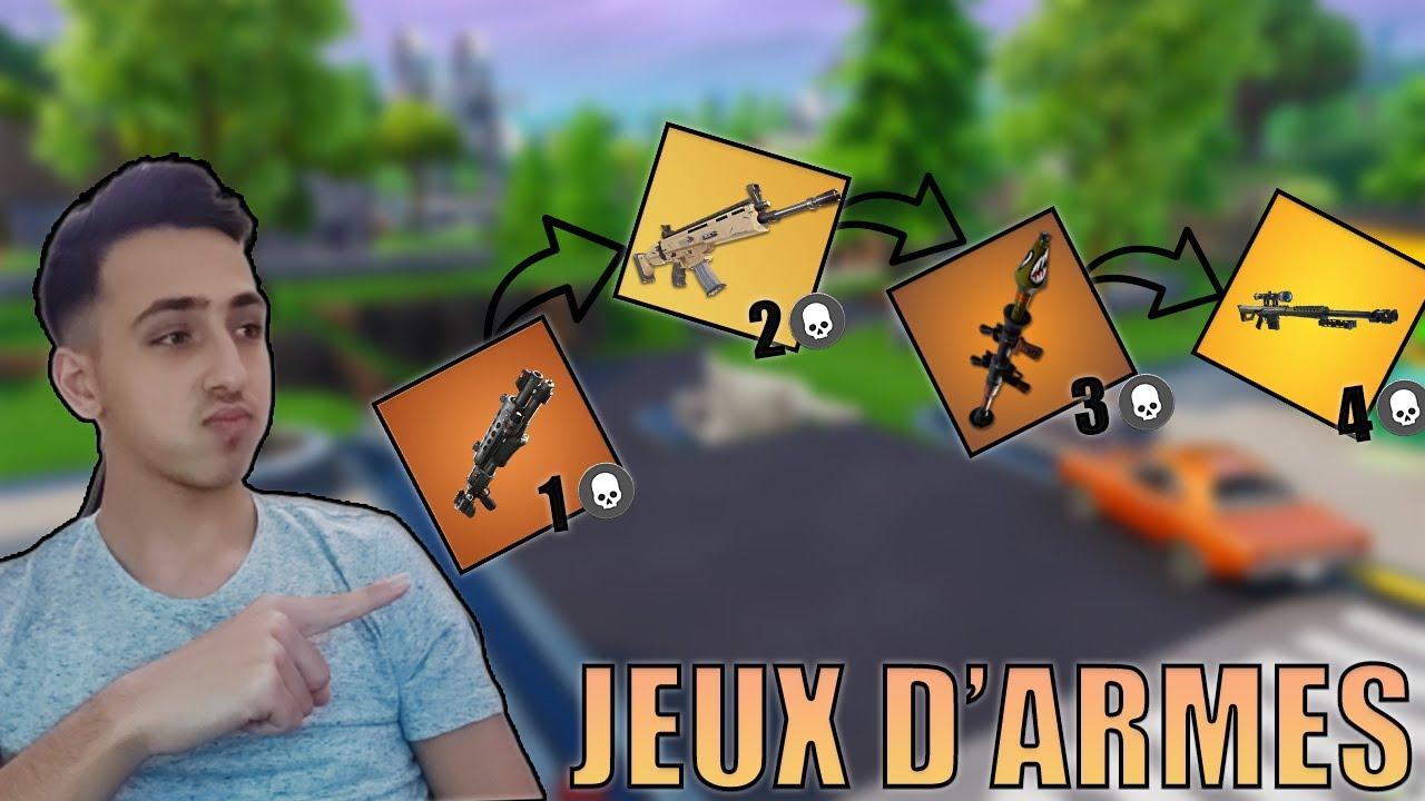 JEUX D'ARMES AVEC DAVO SUR FORTNITE CRÉATIF ! ( c'était trop cool )