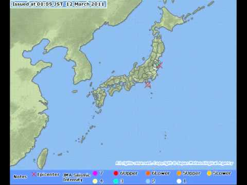 The face of a disaster: One week of shaking; Japan Tohoku Earthquake 2011 日本 9級 大地震
