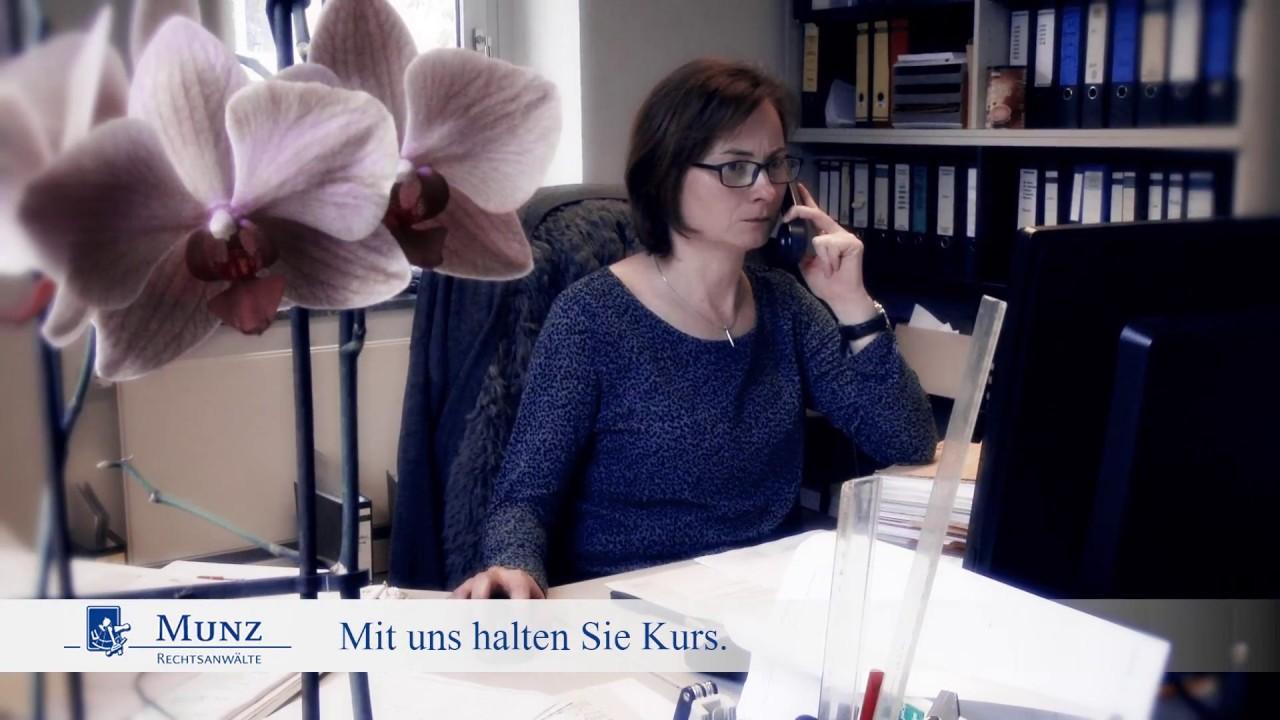 Munz Rechtsanwälte In Dresden Mit Uns Halten Sie Kurs Youtube