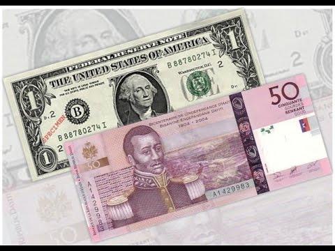 Dépréciation Accelérée De La Gourde Haitienne : 51, 50 Gourdes Pour  Un Dollar Americain
