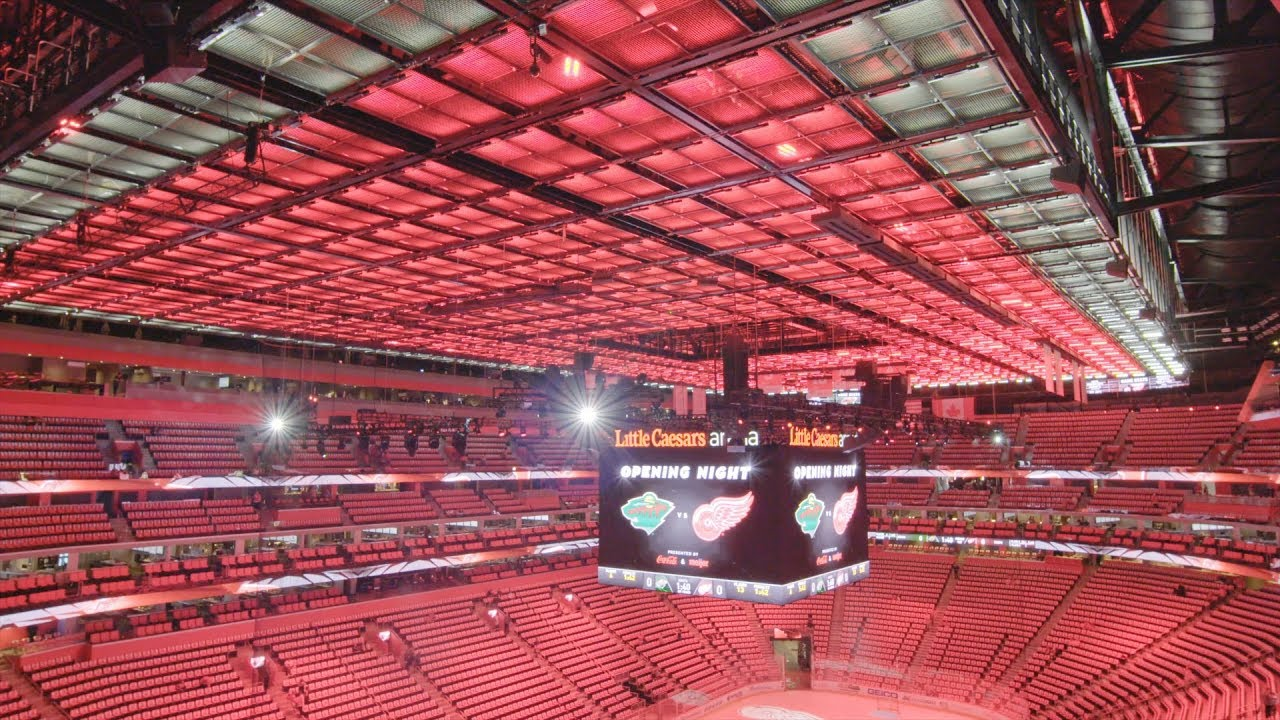 Opening Night At Little Caesars Arena Youtube