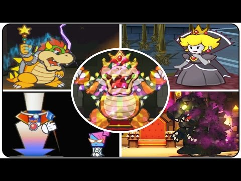 Evolution of Paper Mario Final Bosses