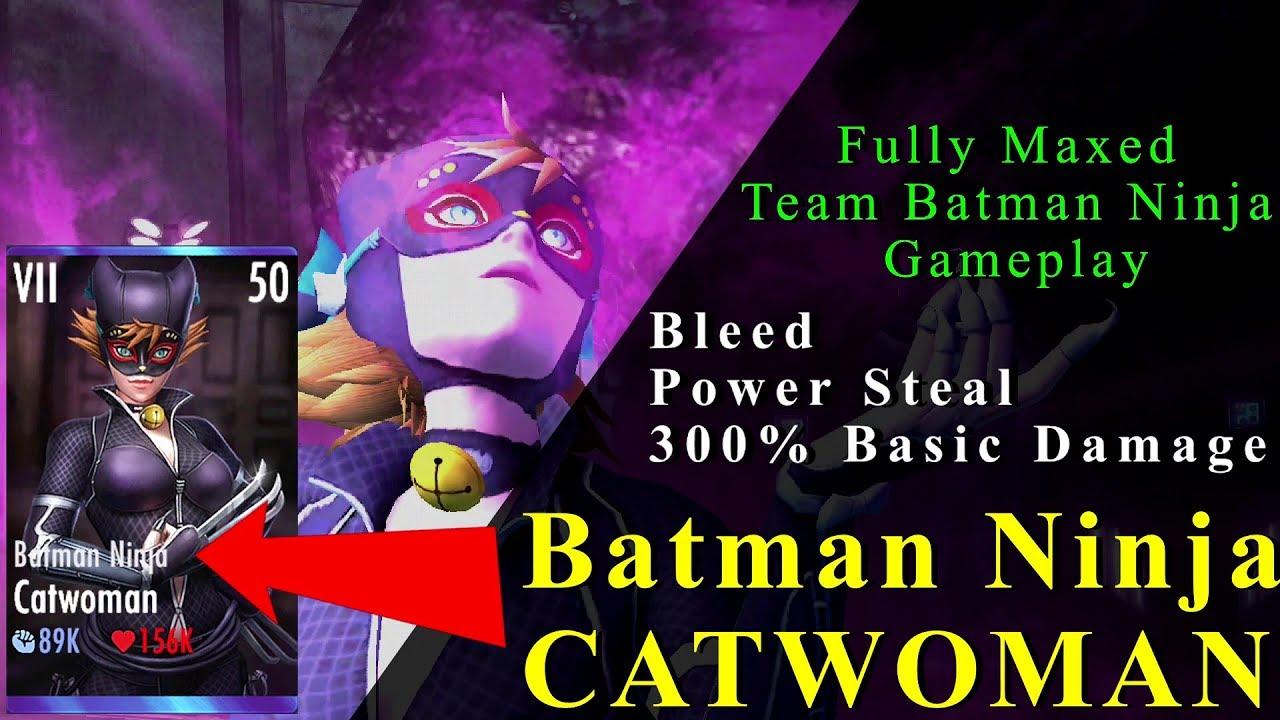Batman Ninja Catwoman Injustice Mobile Update 3 2 Fully Maxed Gameplay Team Batman Ninja Youtube