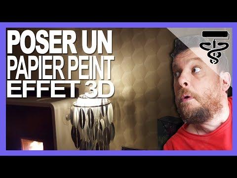⏩poser un papier peint raccord droit - idée deco 1 - YouTube