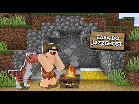 Minecraft Pré-Histórico #2: CONSTRUÍ MINHA CASA-CAVERNA! FICOU LINDA!
