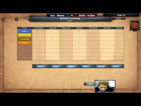 AoE DE | Memo - Iron vs GASU - Imtlias | Final - Map 4: Conti | AoE DE Trial Cup Season 2