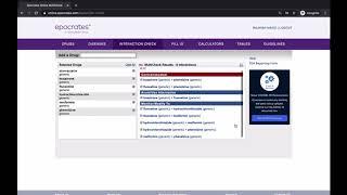 Epocrates Online-Drug interaction search screenshot 4