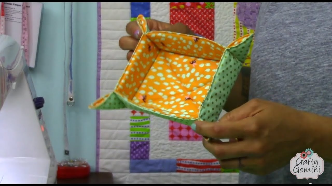 Small Quilted Gift Ideas To Make : Catch-All Fabric Basket Tutorial- DIY - YouTube