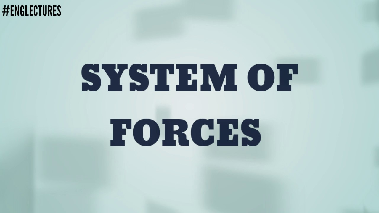 System of forces, Coplaner, Non-coplaner,Concurrent,collinear ...