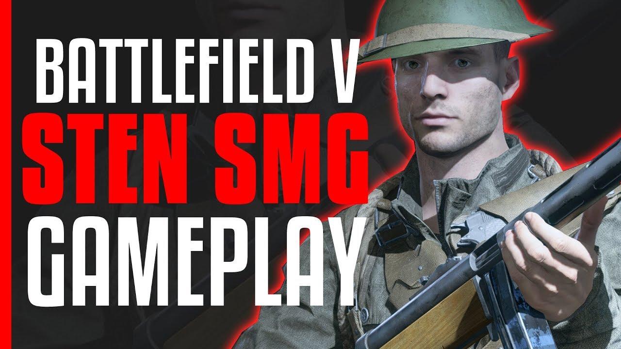 Battlefield V Sten SMG Gameplay! BFV Medic Class
