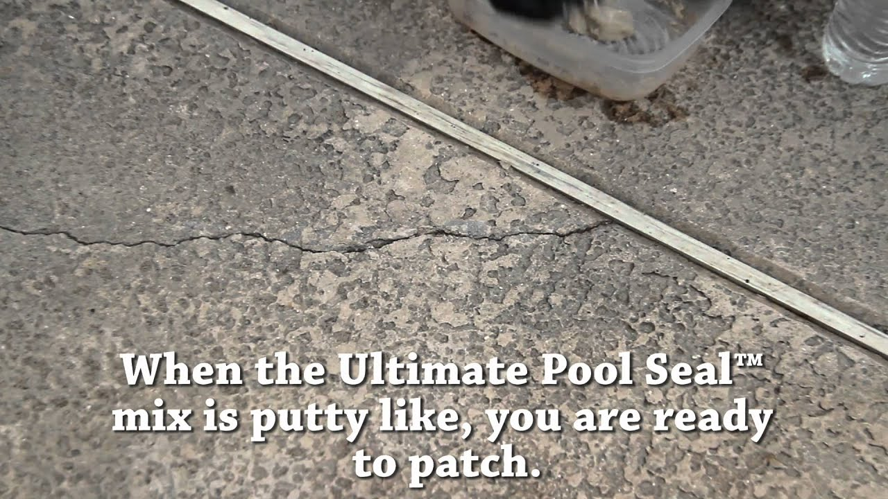 Patching Pool Deck Cracks With Ultimate Pool Seal Youtube