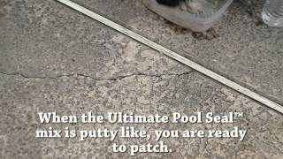Patching Pool Deck Cracks with Ultimate Pool Seal™