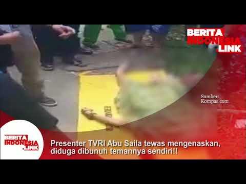 Presenter TVRI Abu Saila tewas mengenaskan diduga dibunuh temannya sendiri inisial SA.