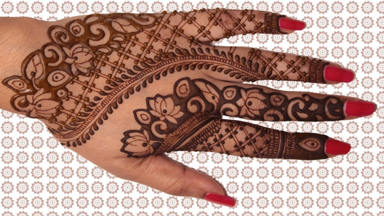 mehndi design flowers with leaves pattern youtube