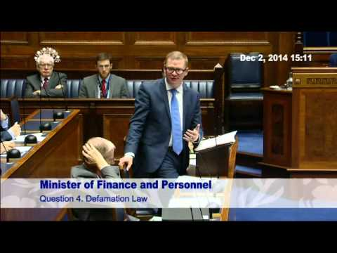 Question Time: Finance and Personnel 02 December 2014