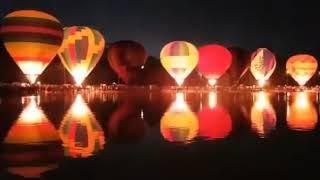 Световое шоу на фестивале воздушных шаров КМВ