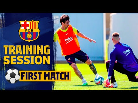 AMAZING MESSI SOLO GOAL IN TRAINING 🤯