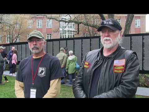 Vietnam Memorial Moving Wall Durham Video
