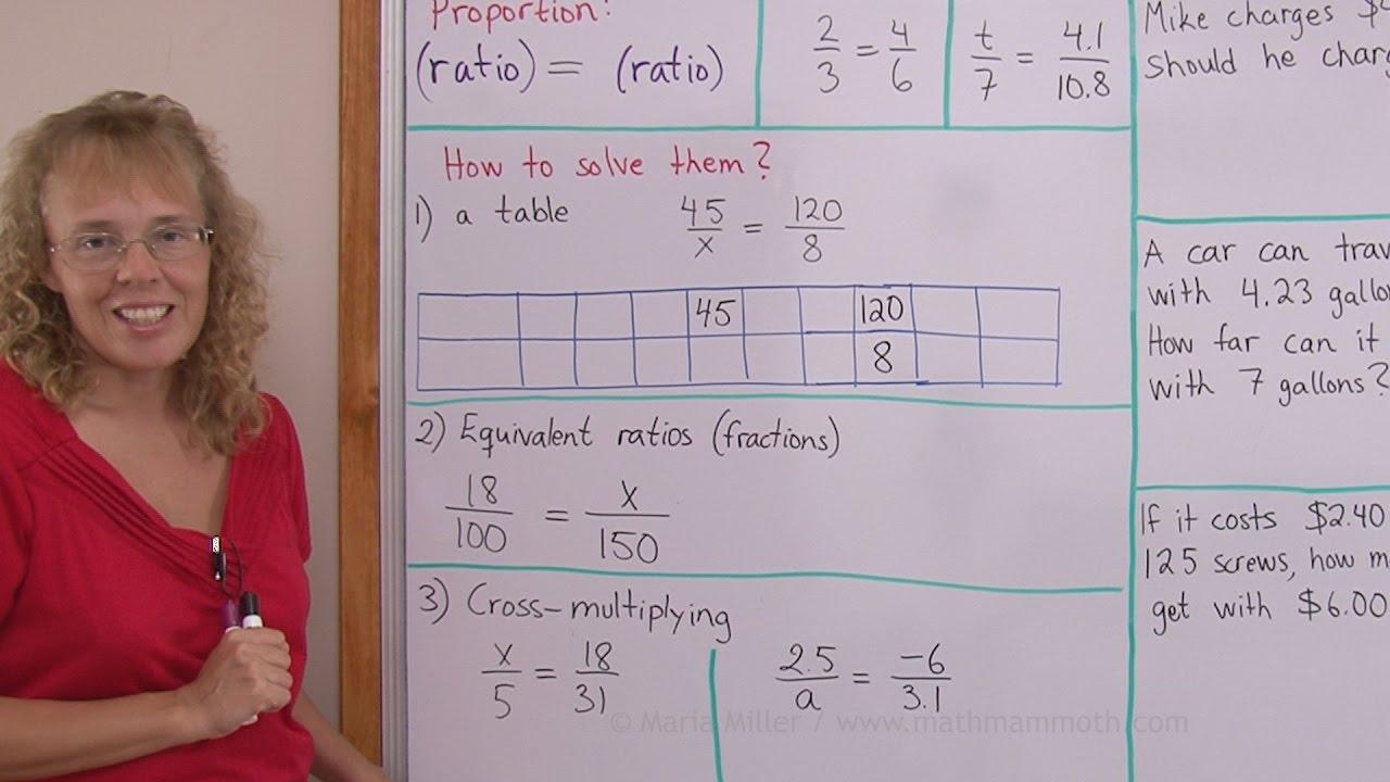 medium resolution of Free proportion videos online (pre-algebra/grade 7)