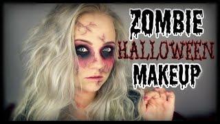 ZOMBIE Halloween Makeup Tutorial || mit NORMALER SCHMINKE | Blond_Beautyy