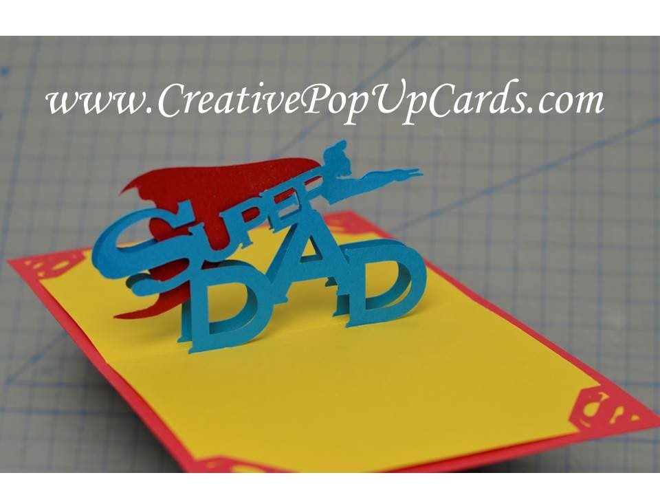 Fathers Day Super Dad Pop Up Card Tutorial Youtube
