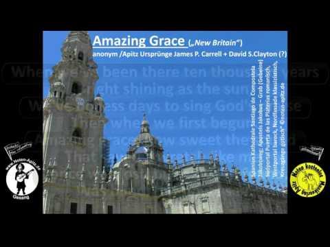 Amazing Grace Spiritual Orchester Köthen Panflöte Karaoke kostenlose Noten Santiago de Compostela