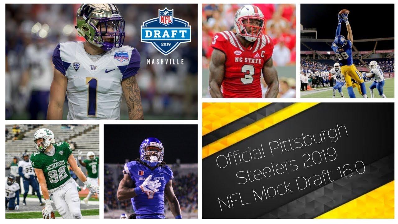 80bba33a Pittsburgh Steelers    W/Trades    2019 NFL Mock Draft 16.0 **HD Quality**