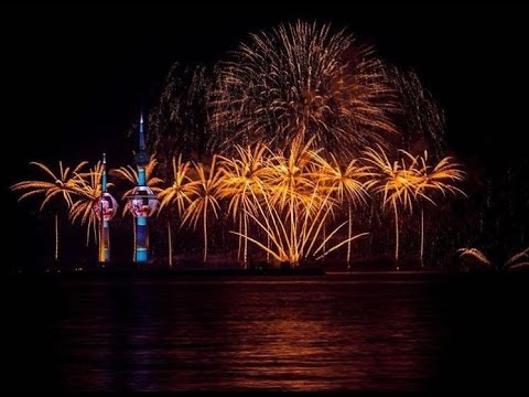 Kuwait Towers Fireworks 2016 HD  ابراج الكويت للألعاب الناريه لعام ٢٠١٦