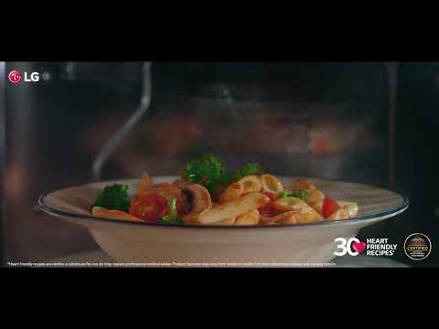 Cook Delicious and Healthy Pasta with LG's Heart Healthy Heart Auto Cook Menu.